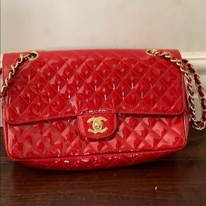 Special Edition Chanel Red Patent classic double